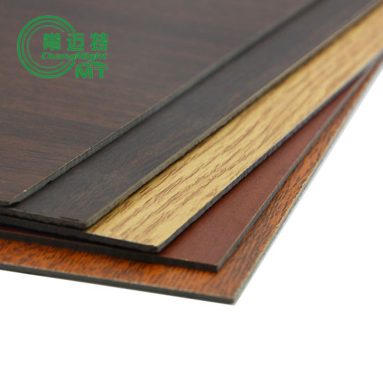 Wood Grain Laminate Kitchen Cabinets/Laminate Board pictures & photos