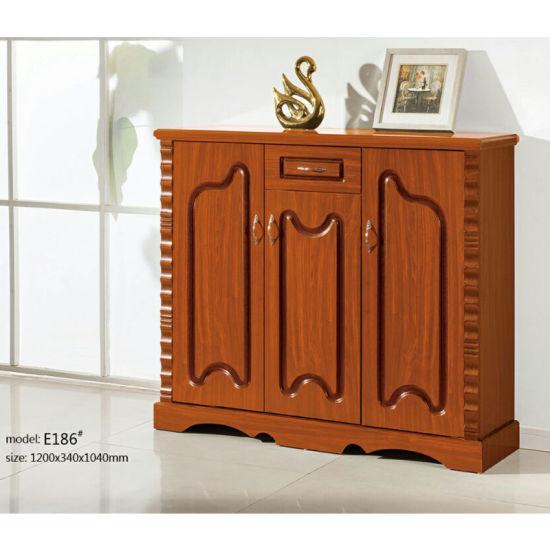 China Wood Shoe Rack Cabinet Hallway Furniture