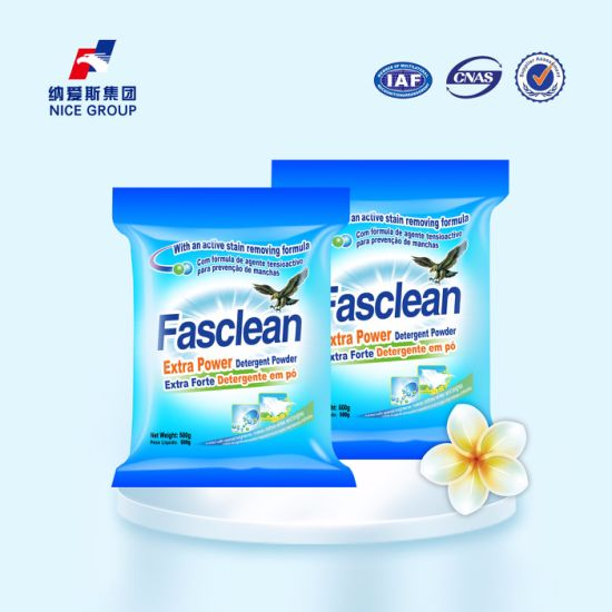 Hot Sale 500g Rich Form Fasclean Extra Power Detergent Powder