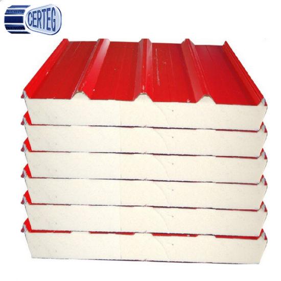 China High Density Polyurethane PU Insulated Roof Sandwich