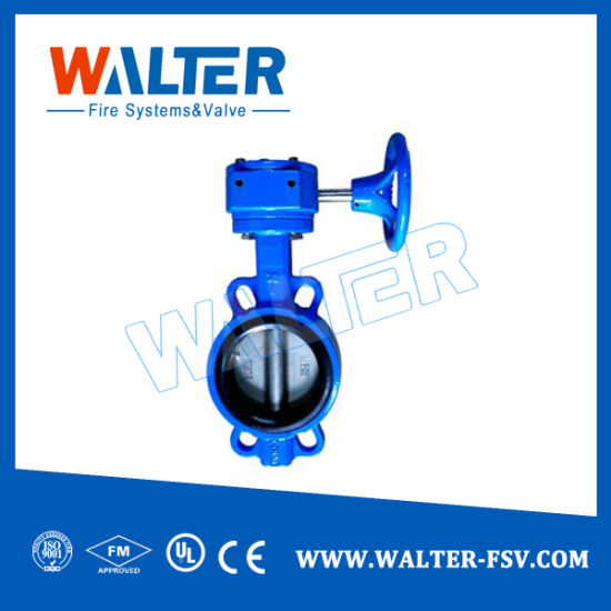 Wafer Type Gear Operated Butterfly Valve with Hand Wheel