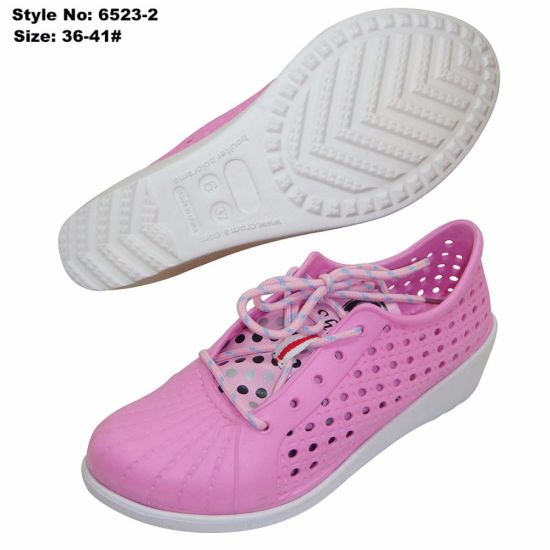 Holey Summer Shoes, High Heel Women EVA Casual Shoes pictures & photos