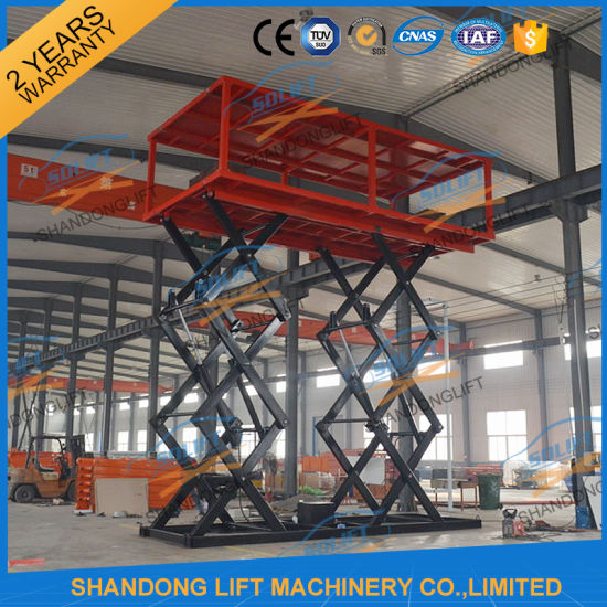 Customized Manganese Steel Double Deck Hydraulic Scissor Car Lift for Home Garage
