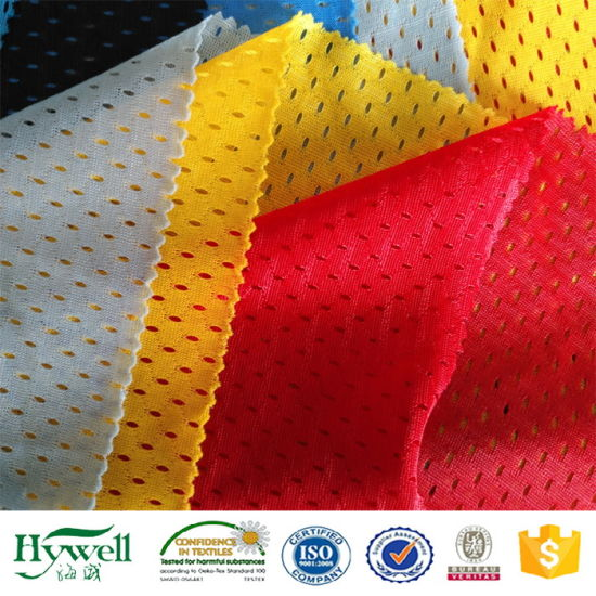 100 Polyester Tricot Mesh Fabric for Bag Clothing Jackets pictures & photos