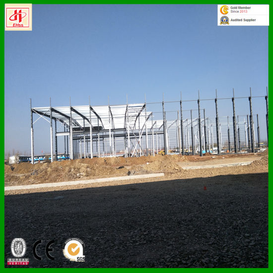 Low Cost and Modern Appearance Prefabricated Steel Warehouse pictures & photos