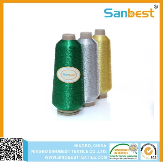 100% Polyester Metallic Embroidery Thread for Embroidery 150d/1 pictures & photos