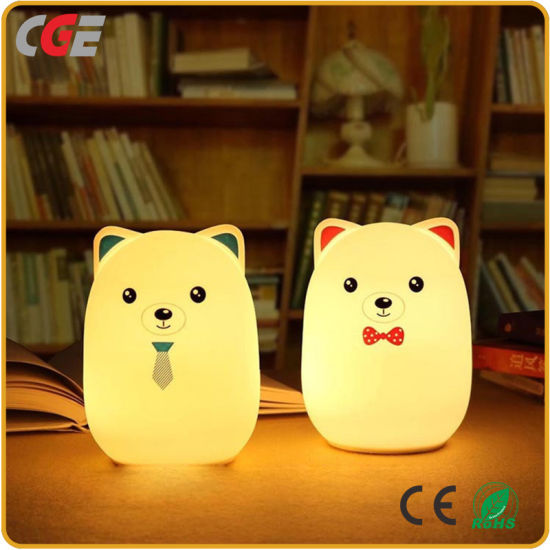 LED Desk Lamps Table Light Cute Kids Night Light Bear Multicolor LED  Nursery Lamp For Children LED Lighting