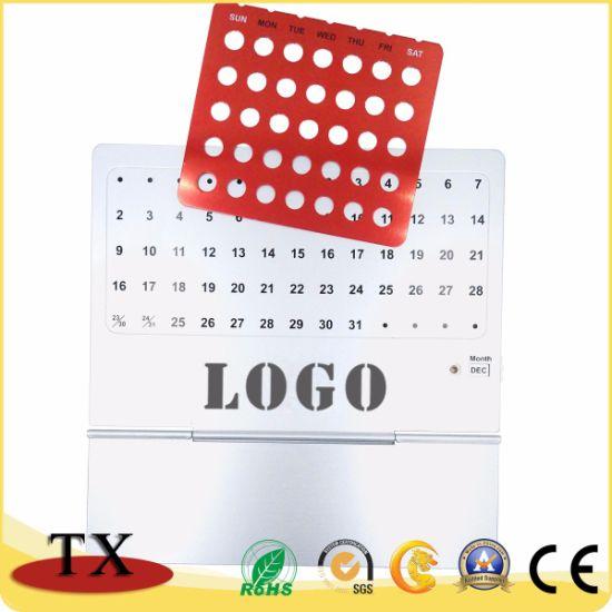 Hot Selling Metal Aluminum Perpetual Desk Calendar