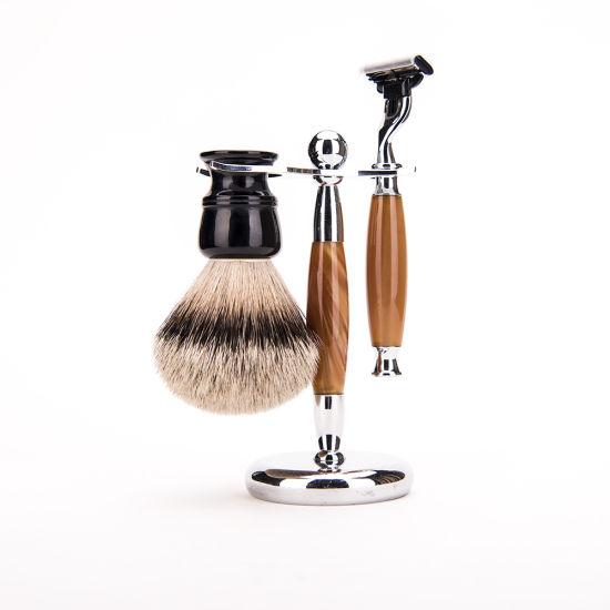 Men's Badger Shaving Brush Facial Shave Brush Manufacturer in China