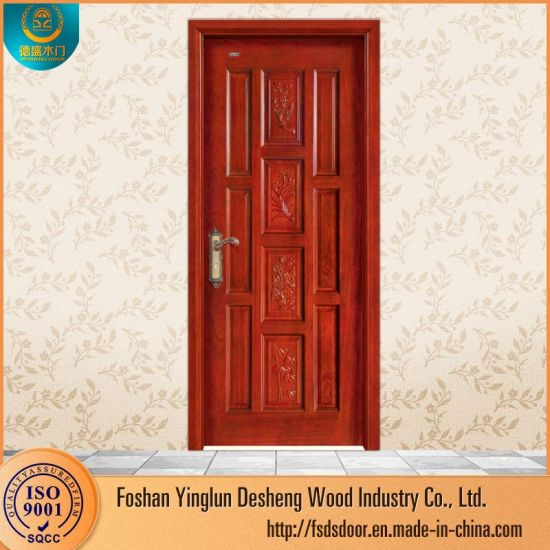 Desheng Modern Main Door Wood Carving Design