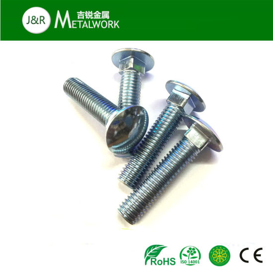 Zinc Plated Coach Bolts Carriage Bolts /& Nuts Various Sizes