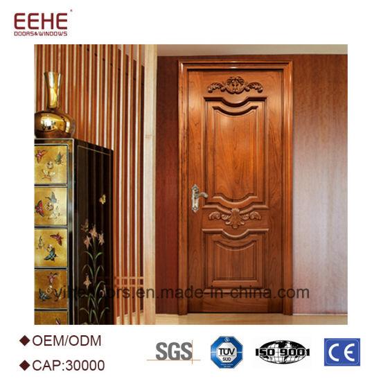 China Modern Design Solid Wood Door Interior Wood Door China