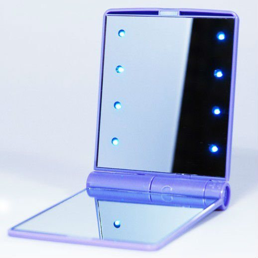 Blue Table LED Lighted Makeup Mirror