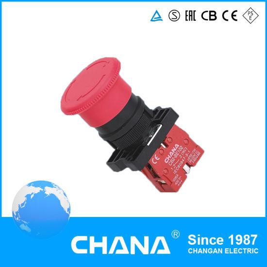 Mushroom Rotaion Auto-Reset N/C Emergency Pushbutton Switch