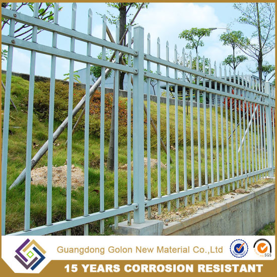 Powder Coated Fence Steel Panel/Modular Metal Fence pictures & photos
