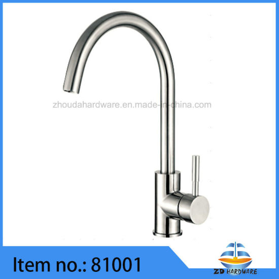 Good Quality Stainless Steel Kitchen Sink Faucets Cold Hot Tap pictures & photos