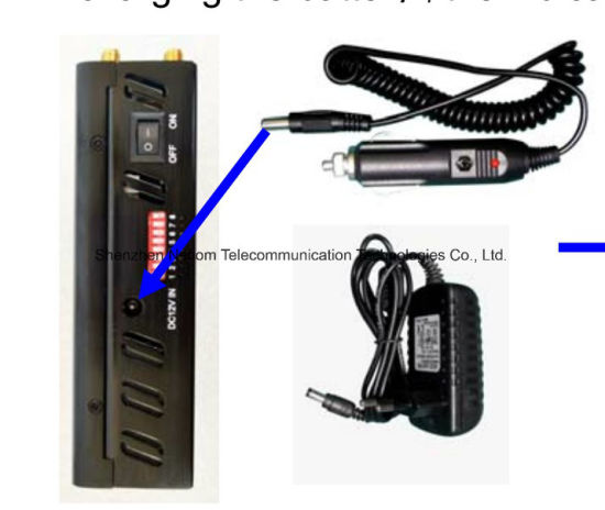 Portable Eight Antenna Jammer, Blocker for All Cellular, GPS, Lojack, Alarm pictures & photos