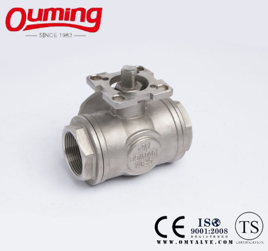 Three Way Ball Valve with Mounting Pad pictures & photos
