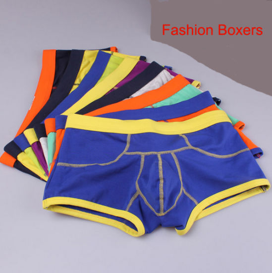 New Customize Clourful Cotton/Spandex Fashion Men's Boxers