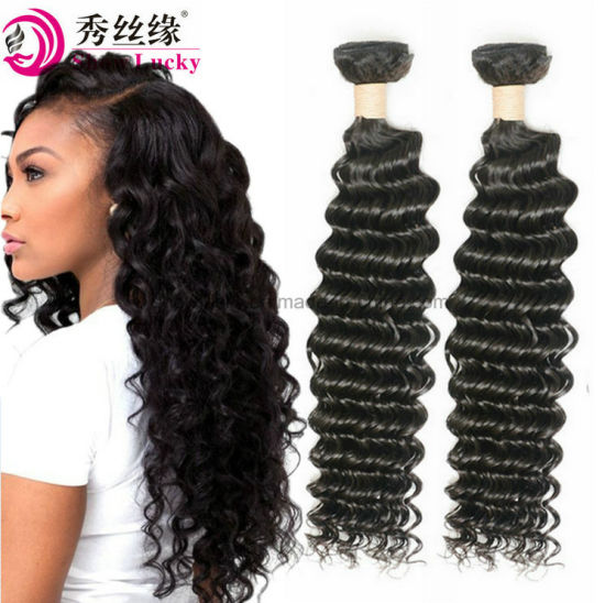 Big Discount Unprocessed Virgin European Human Hair Extension Deep Wave Remy Hair Weaving Weft pictures & photos
