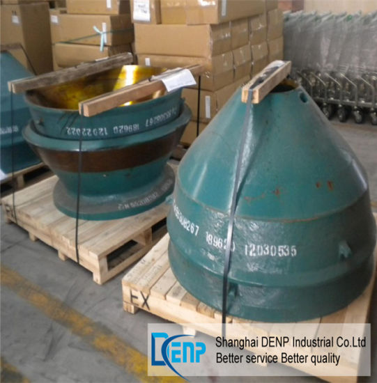 China Powerscreen Cone Crusher Concave and Mantle for