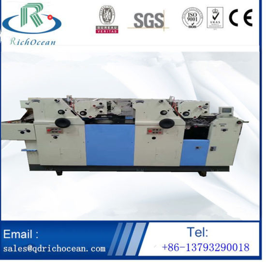 China Manufacturer Automatic 3 Color Offset Printing Machine