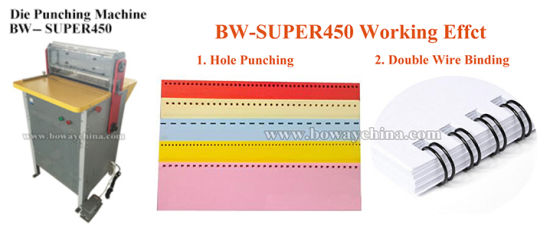 Electric 2: 1 & 3: 1 A3 A4 Calendar Double Loop Tie Wire Hole Die Punching Binding Industrial Paper Punch pictures & photos