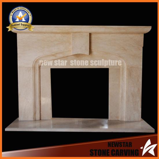 China Limestone Fireplace Mantel Stone Fireplace Surround China