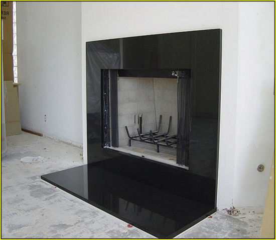 Clean Line Surround Honed Black Granite Suspended Fireplace China