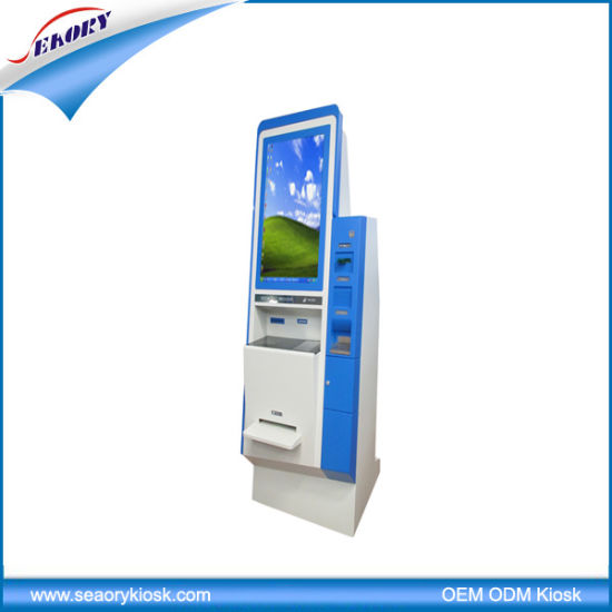 17′′ Free Standing Photo Printing Kiosk, Hospital Queuing Kiosk pictures & photos