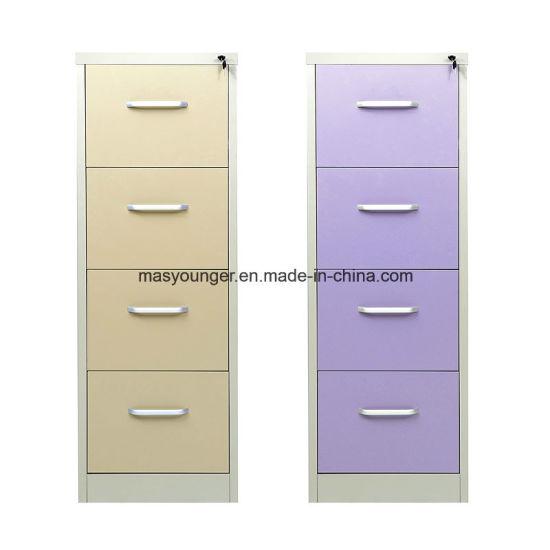 Two Tone Furniture Metal Filing Storage Steel Vertical Office Home File  Safety Lock Folder Cabinet