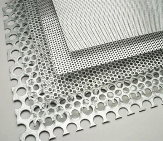 China 1mm Hole Galvanized Aluminum Perforated Metal Mesh