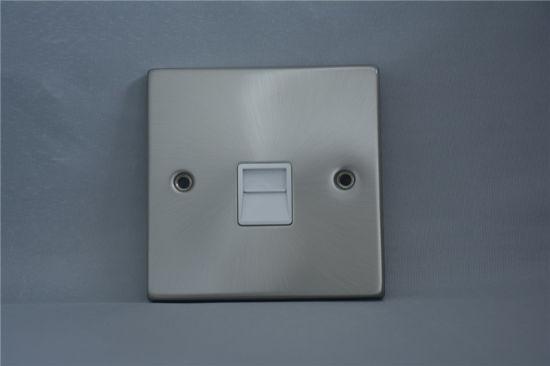 T438 Fb 1gang Telephone Socket, Secondary