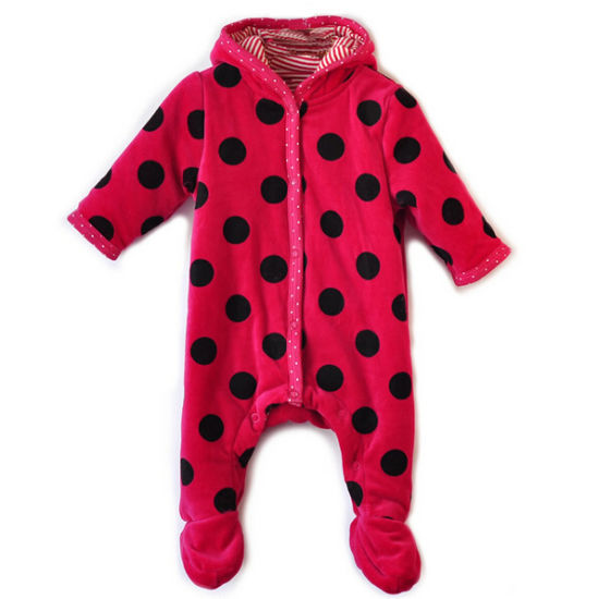Customize Design Plush Fabric Lovely Unisex Romper for Baby