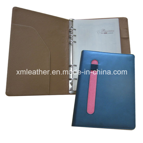A5 Synthetic Leather Bound Diary with Metal Ring