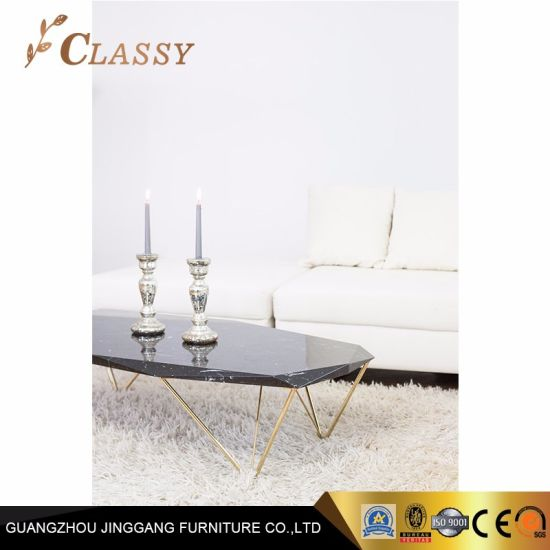 Miraculous Black Irregular Marble Coffee Table Metal Base Living Room Furniture Ibusinesslaw Wood Chair Design Ideas Ibusinesslaworg
