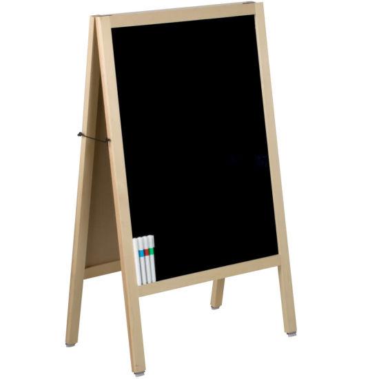 "a-Frame Marker Board Sidewalk Sign - Oak Wood - 20"" X 34"""