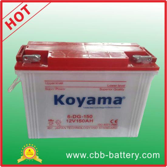 China Koyama Brand Reliable 12v E Rickshaw Battery 150ah China E