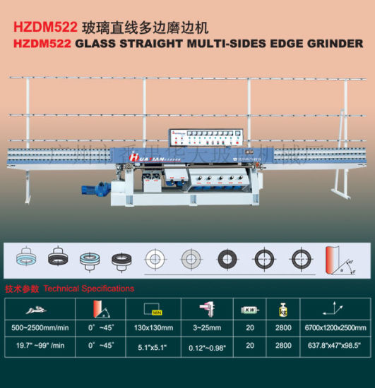 PLC Multilevel Angle Edging Machine/ Glass Multilevel Edging Machinery Tn27