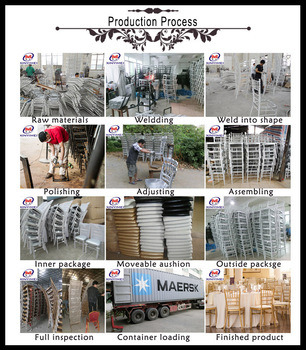 Wholesale Stacking Gold Metal Wedding Chiavari Chair for Hotel pictures & photos
