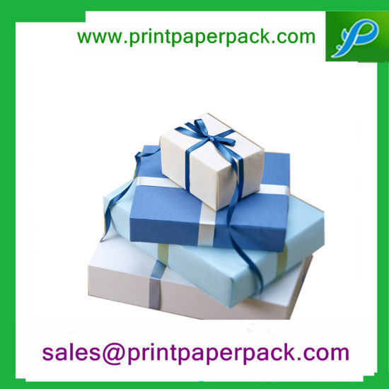 High Quality Beautiful Customized Paper Gift Box Wrap with Color Ribbon pictures & photos
