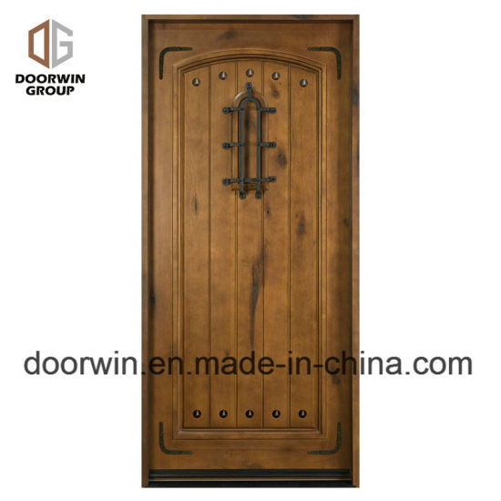 China Arched Decorative Wrought Iron Clavos Exterior Doors French