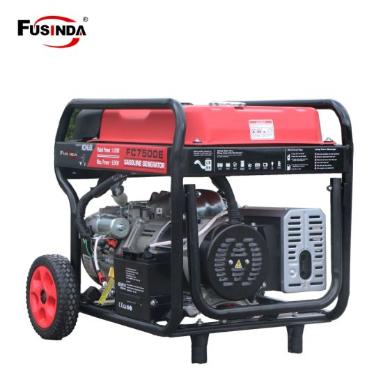 6kw Gasoline Generator Powered by Kohler. 100% Copper Winding (FC7500E) pictures & photos