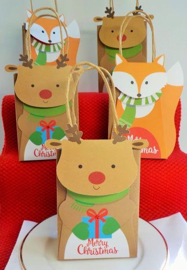 Wholesale Cute Brown Paper Chrismas Wedding Birthday Gift Packaging Bags Great For Chocolate Or Small Gifts Ab07