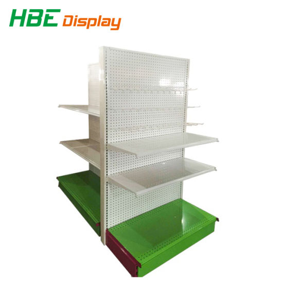 Perforated Back Display Shelf Store Gondola Shelves pictures & photos