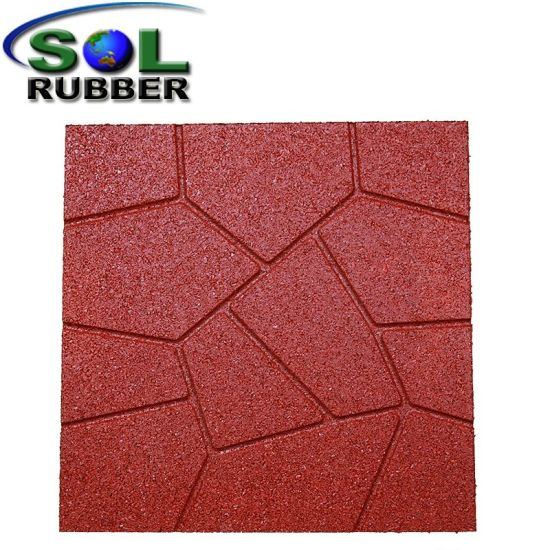 Residential Outdoor Patio Recycled Rubber Flooring Pavers