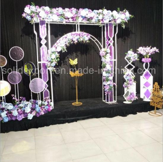 [Hot Item] Iron Art Lollipop Silk Flower Wedding Drops Decoration for  Gardens, Courtyards, Villas