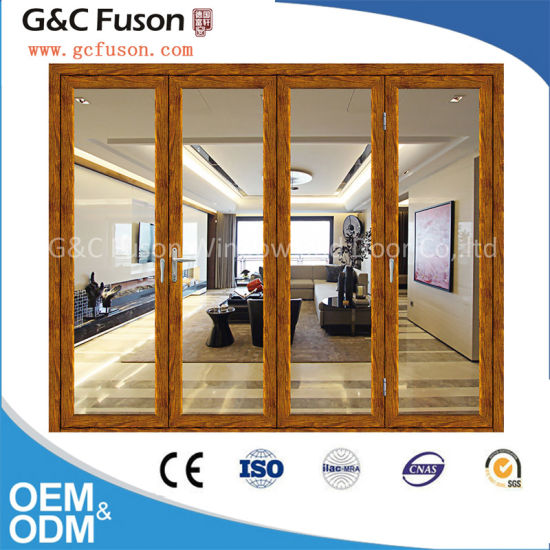 China Ready Made Large Glass Japanese Folding Door All Kinds Of