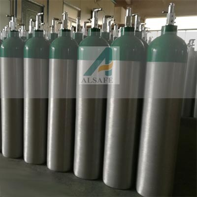 0.5L to 50L Aluminum Medical Oxygen Tanks Pressure pictures & photos