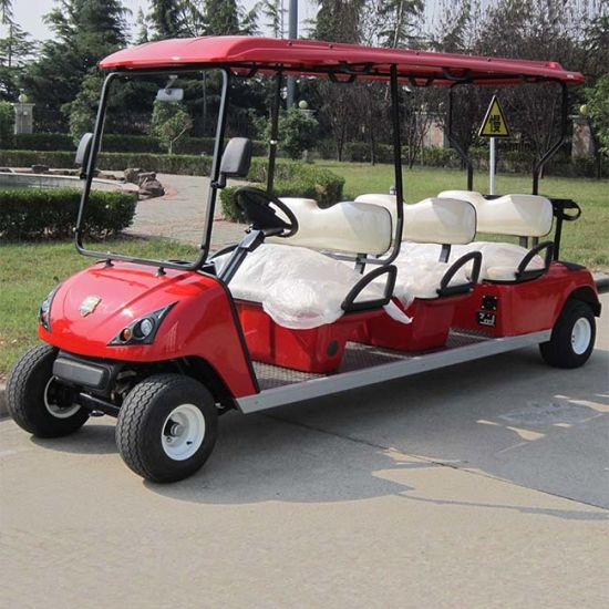 China Expert Manufacturer 6 Passenger Electric Golf Cart for Sale (DG-C6) pictures & photos